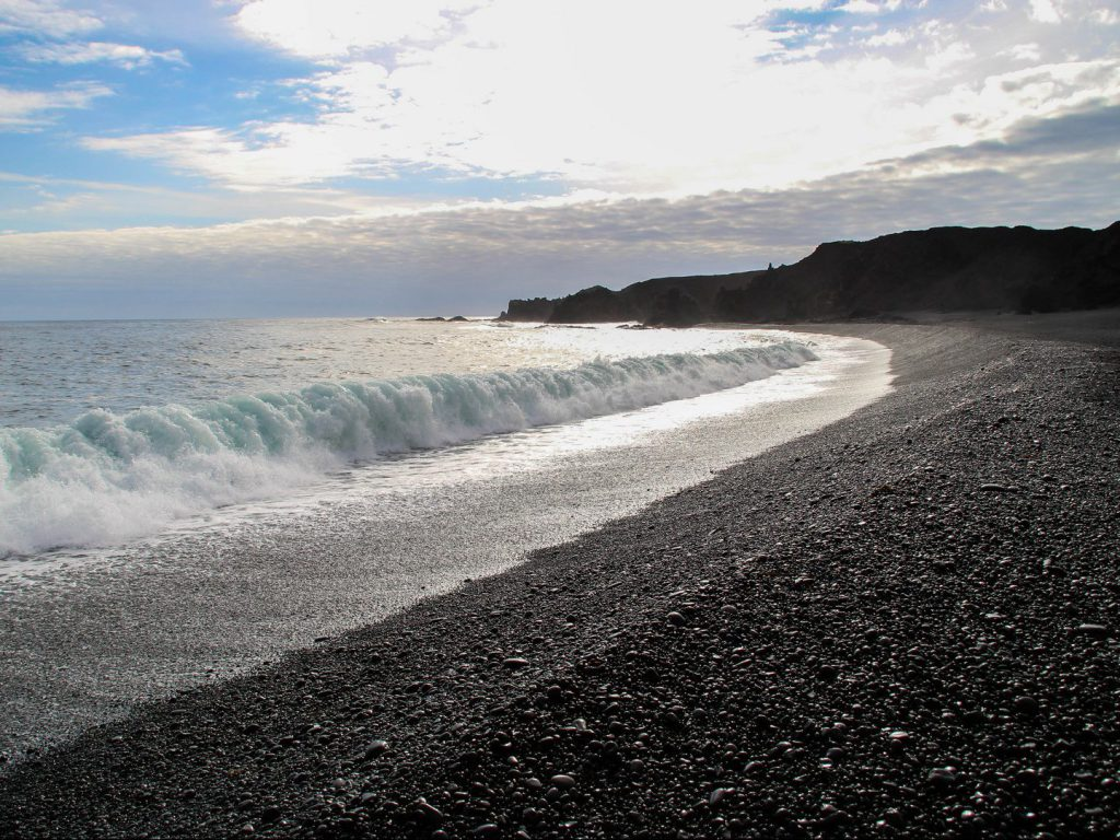 Black beach at Djúpalónssandur Iceland