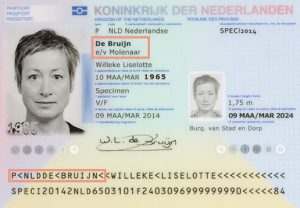 Maiden name of married lady in Dutch passport
