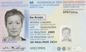 Maiden name of married lady on Dutch identification