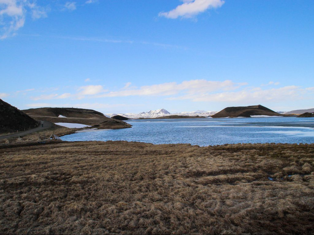 Lake Mývatn and the pseudocraters at Skútustaðagígar Iceland