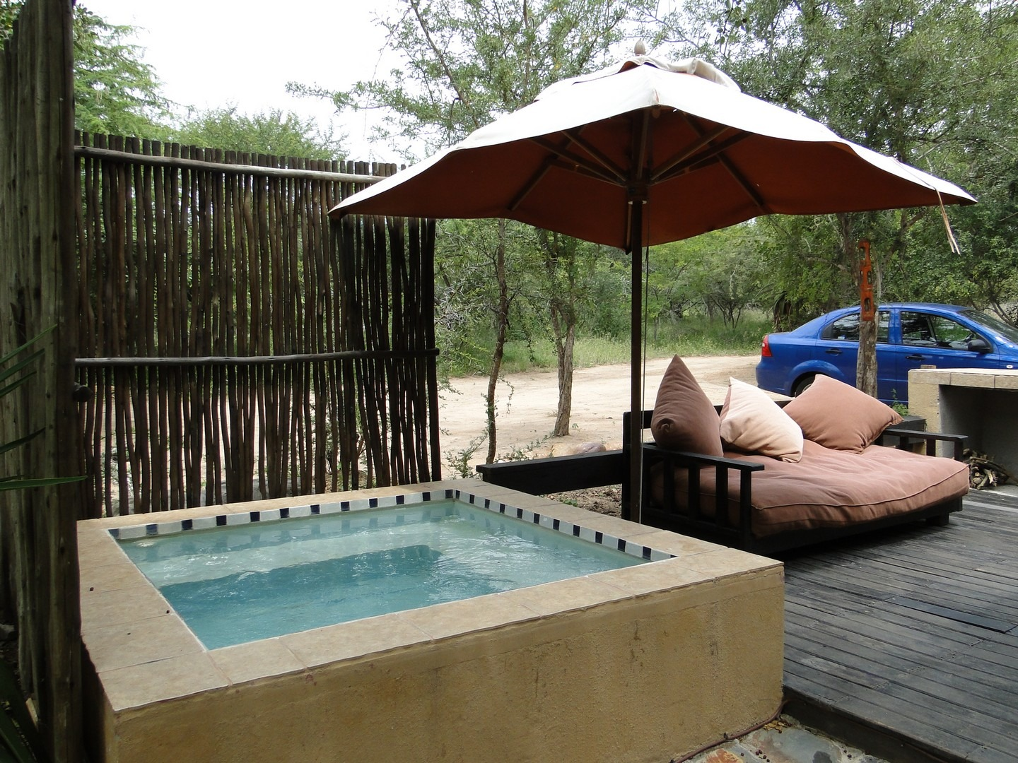 Terrace With Cosy Lounge And Swimmingpool Manzini Swazi King Chalets Marloth Park South Africa