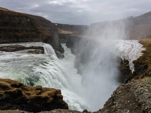 Mist at Gulfoss waterfall Iceland