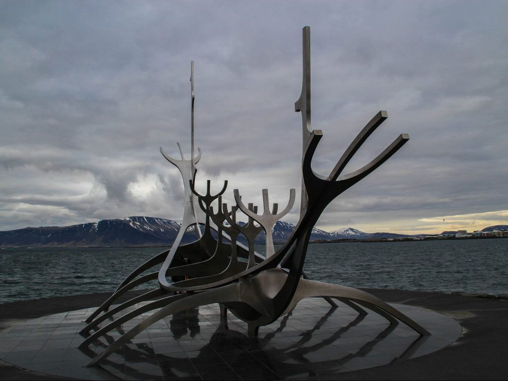 The Sun Voyager sculpture at Reykjavik