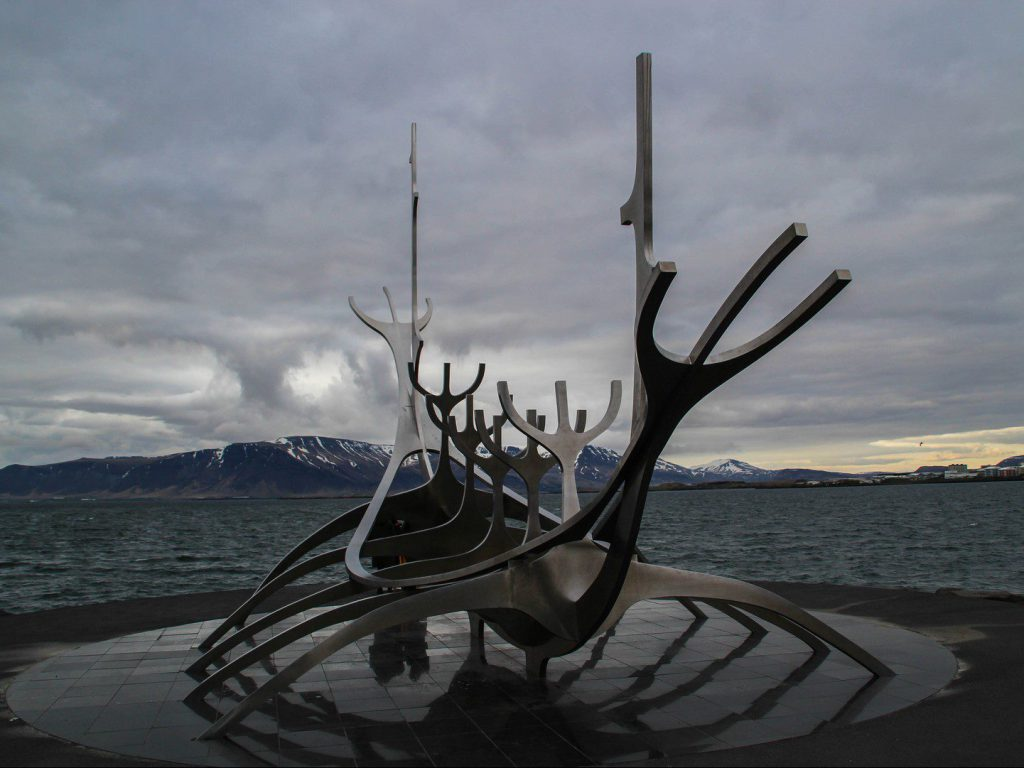 The Sun Voyager sculptuur in Reykjavik
