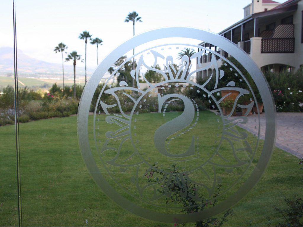 Logo and rooms Asara Wine Estate Hotel Stellenbosch South Africa