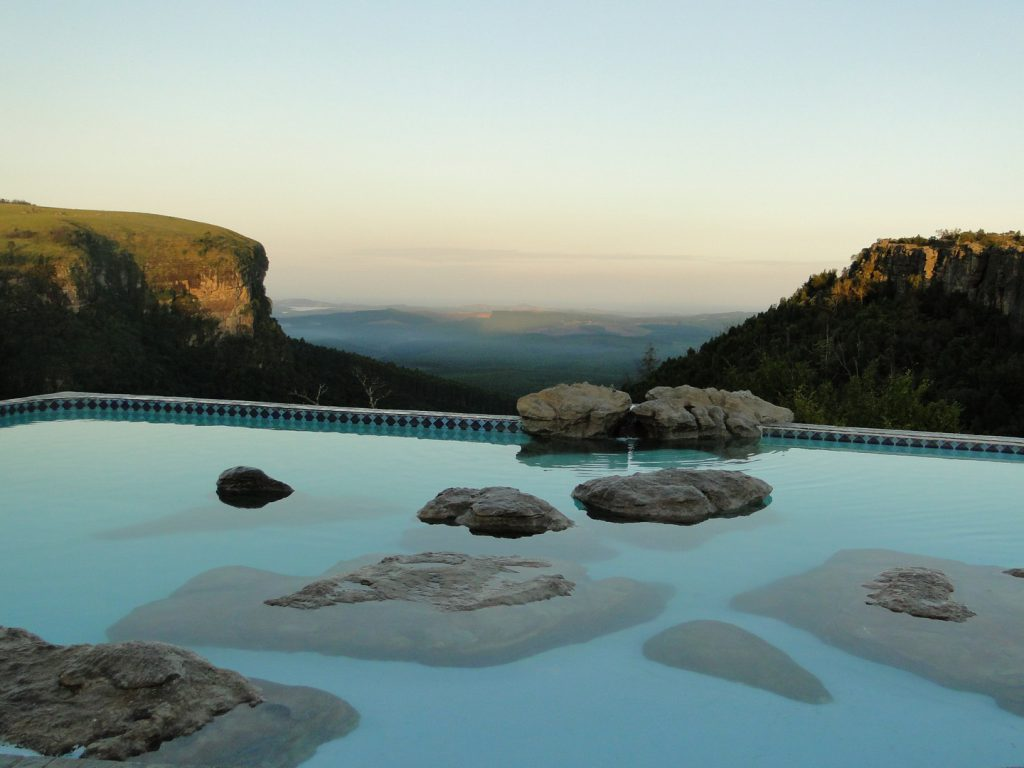 View from infinity pool on Graskop Gorge South Africa