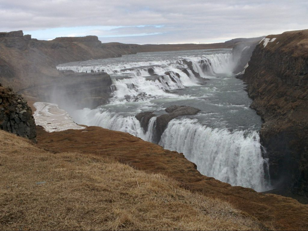 View at Gulfoss waterfall Iceland