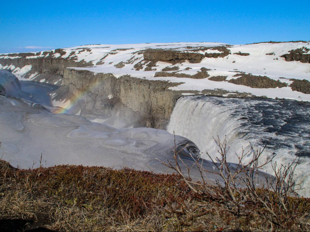A rainbow above Dettifoss Iceland