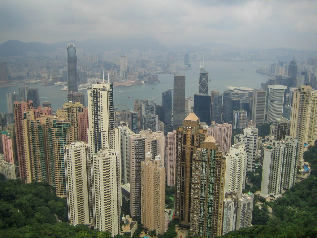 Skyline Hong Kong from Victoria Peak