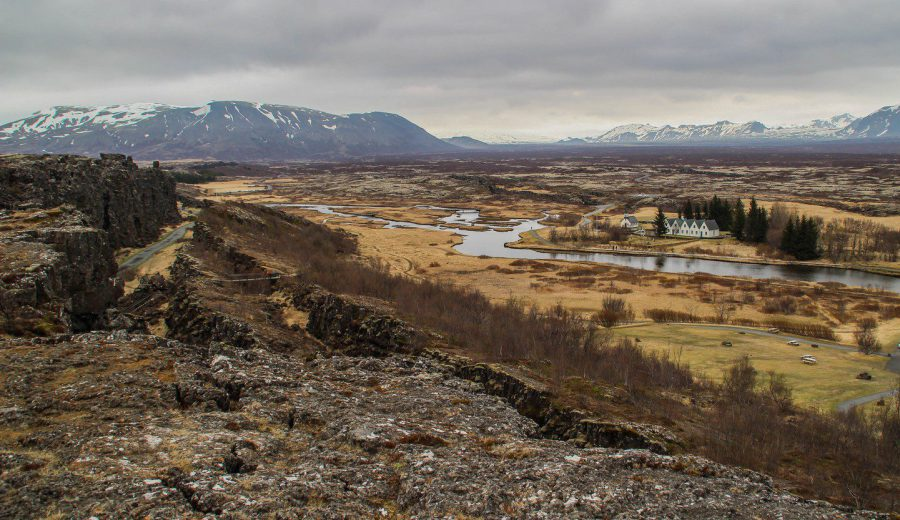 Thingvellir National Park: walking between two continents