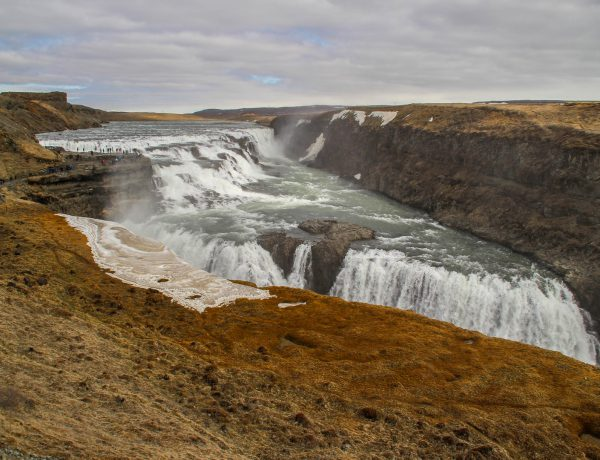 The route for a visit to the Golden Circle on Iceland