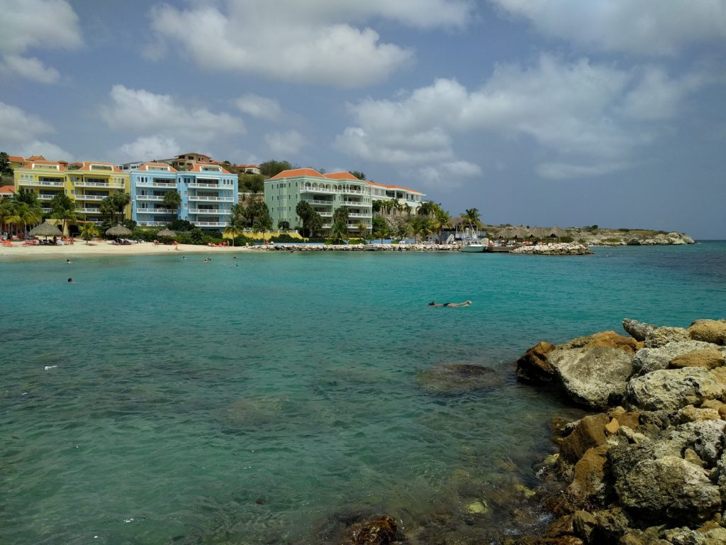 View Caribbean sea and apartments Blue Bay Curaçao