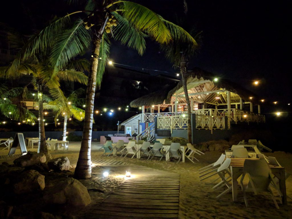 Sunset Bar and Grill in evening Blue Bay Curaçao
