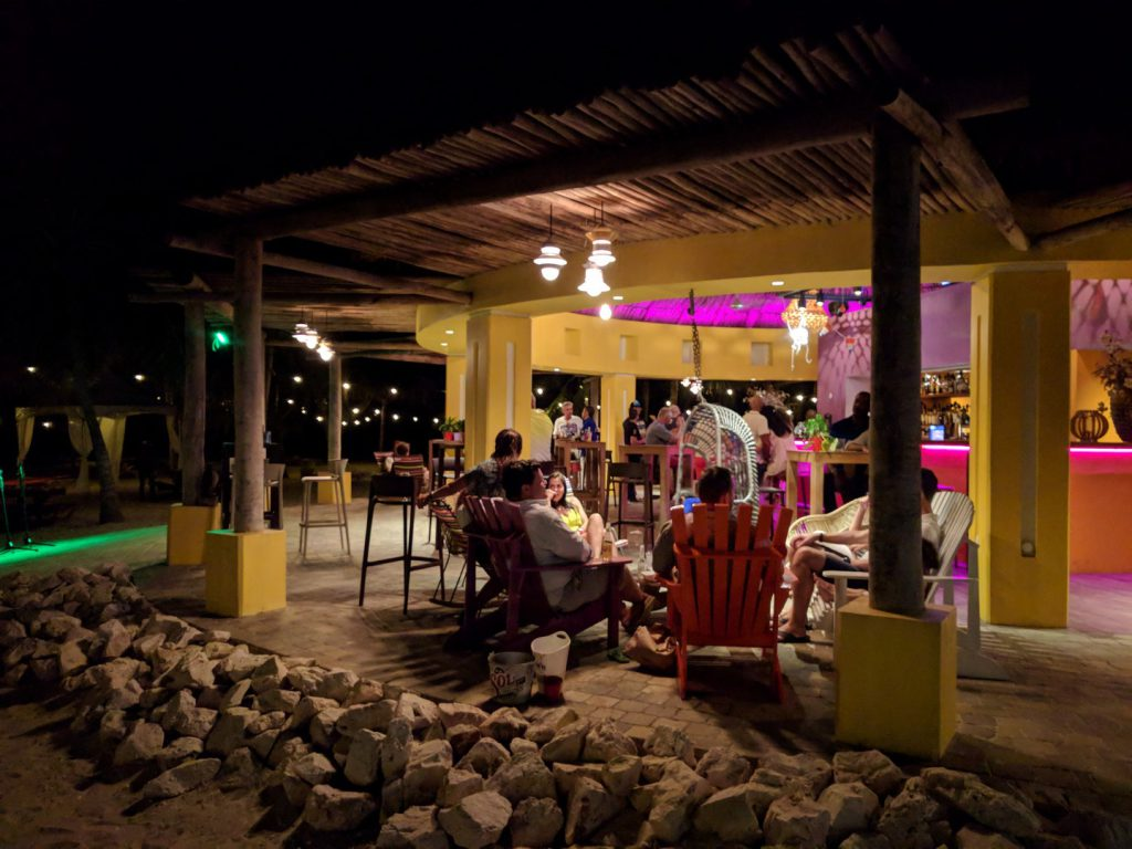 Terrace Beach Bar Blue Bay evening Curaçao