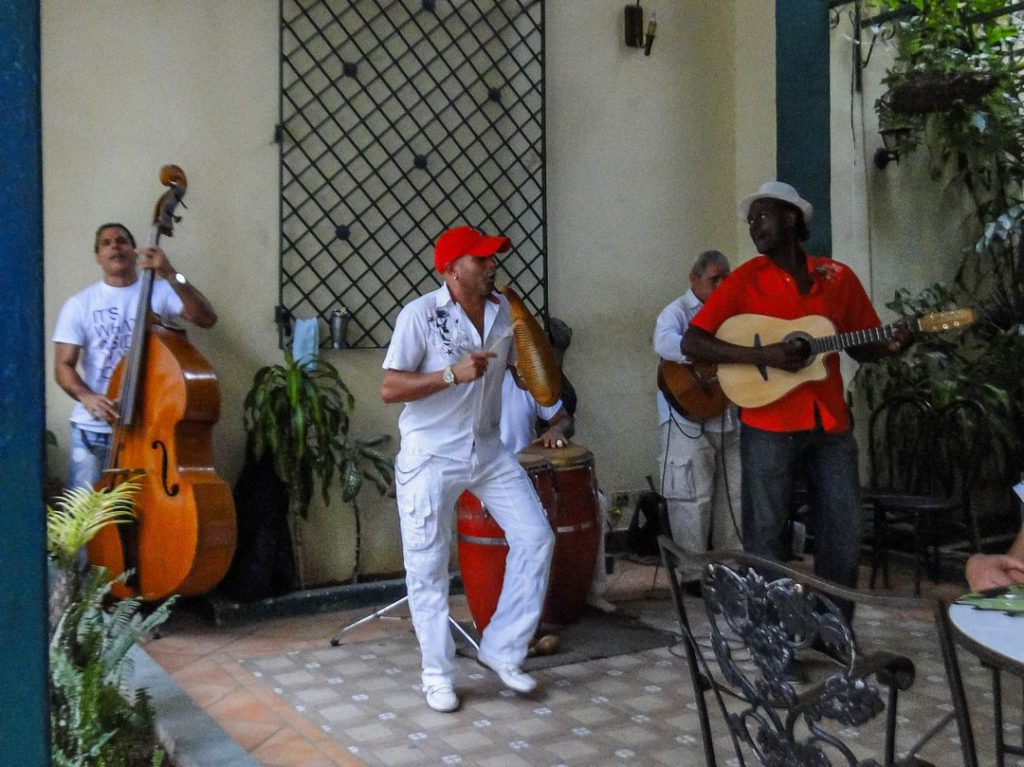 performance musicians and singer Havana