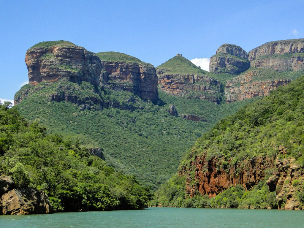 View of three rondavels rock formation South Africa
